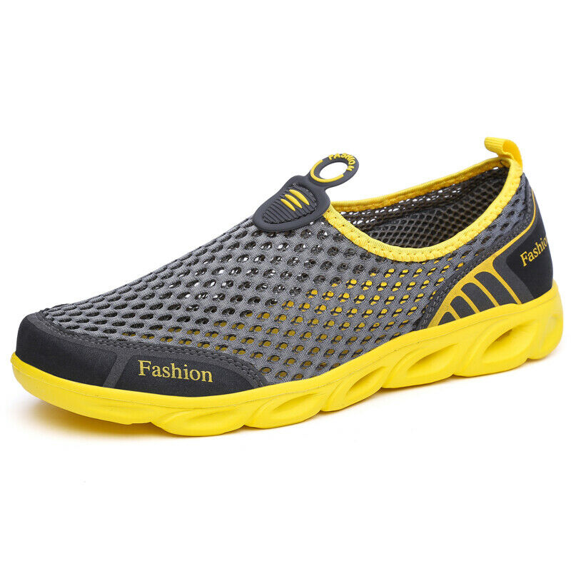3c24f3d5d8c7 Details about Men s Women Water Shoes Lightweight Breathable Outdoor Slip  on Runnning Shoes