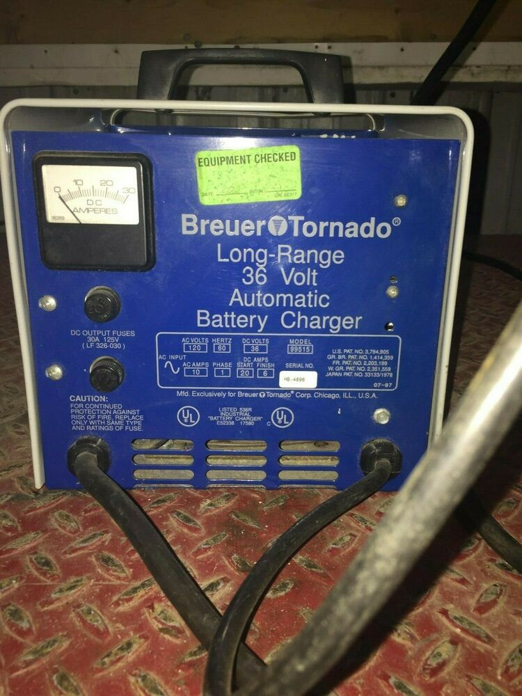 1 Used Breuer Tornado 99515 Long Range Battery Charger 36 Volt Make Offer Ebay