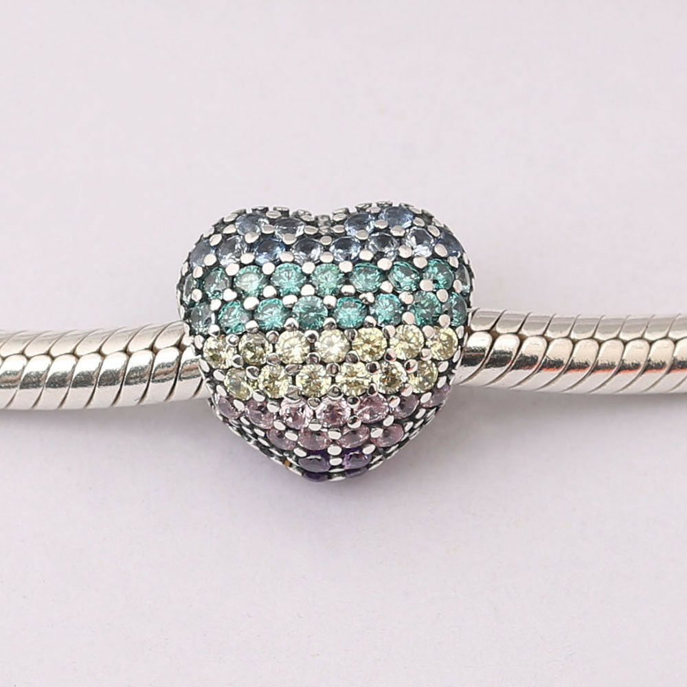 Beads New Fashion Authentic 100% 925 Sterling Silver Beads Charm Pave Open My Heart Clip Clear Cz Charms Fit Pandora Bracelets Diy Jewelry Gift