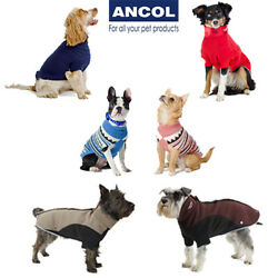 Ancol Dog Puppy Jumper Sweater Coat  Alpine Cable Knit Thermal Fleece Pink Red