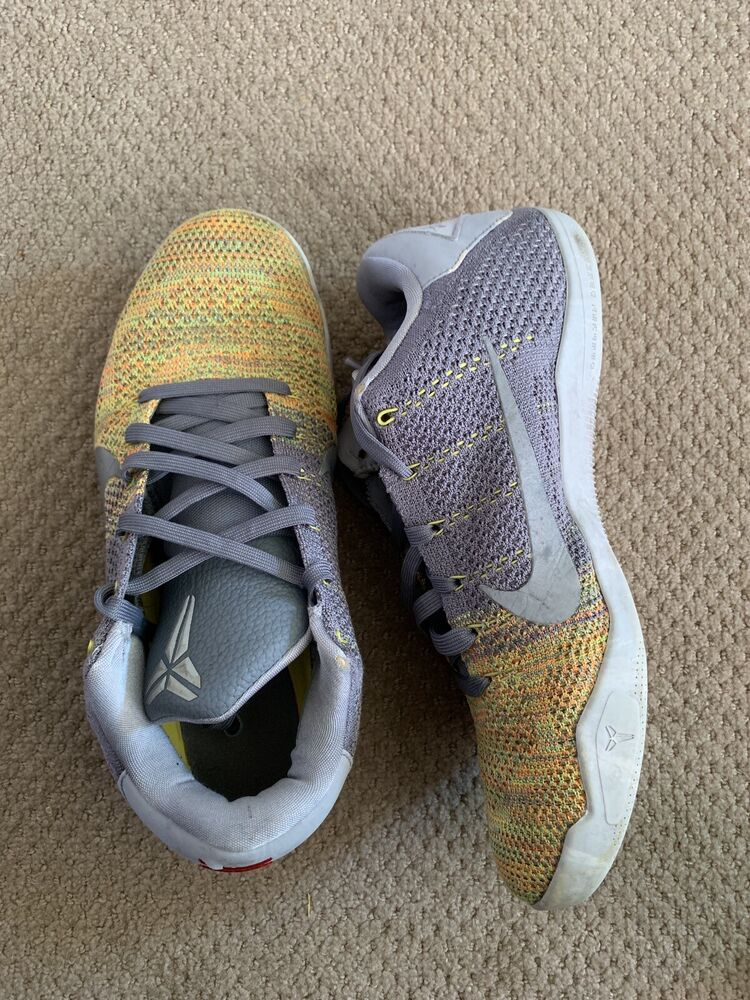 online store 5cbc9 2c04b Details about Kobe 11 Xi Size 10 Yellow And Grey Gray Preowned