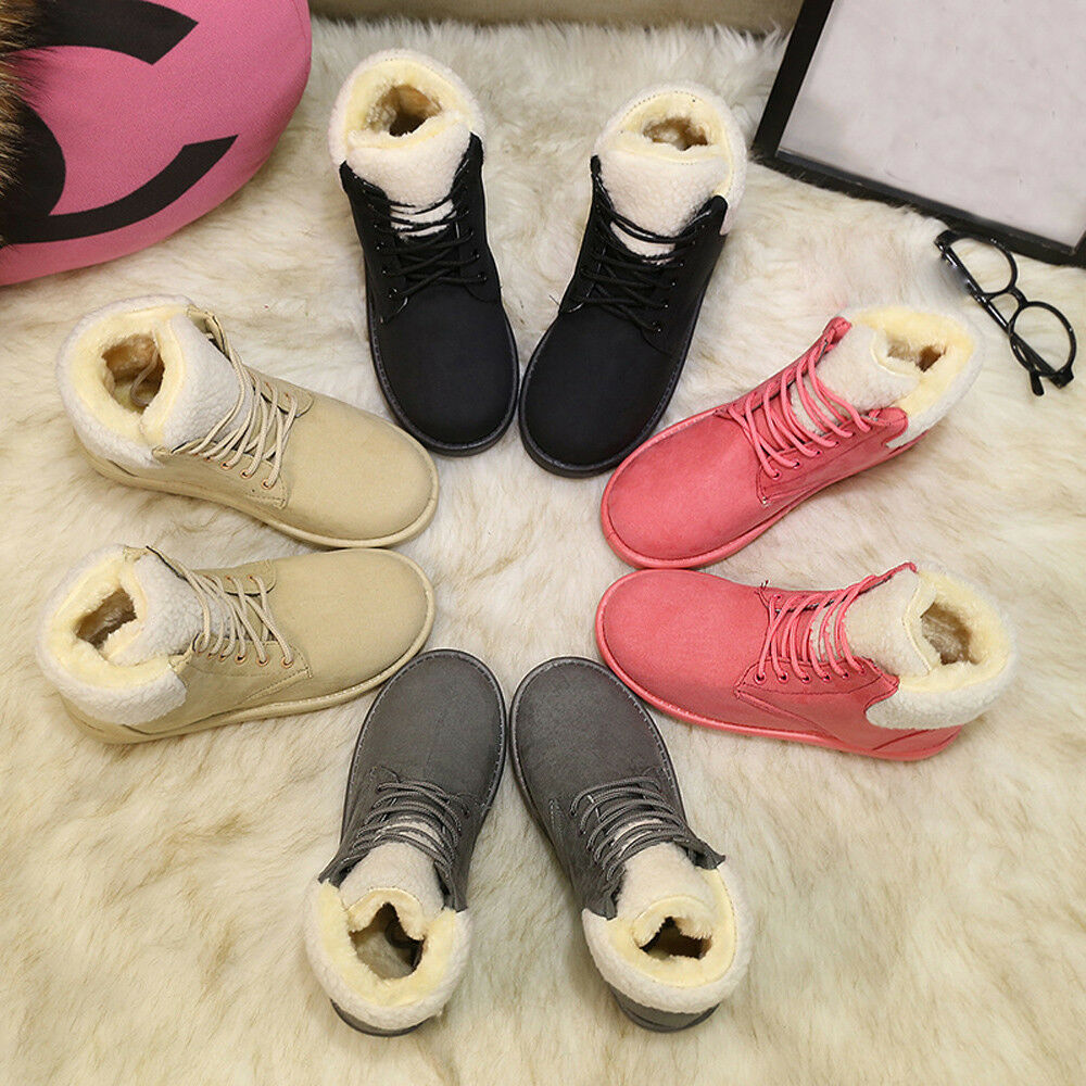 1f3300dfe6d6e Snow Boots Outdoor Fur Female Warm Ankle Boots Women Boots Snow Boots and Autumn  Winter Women Shoes