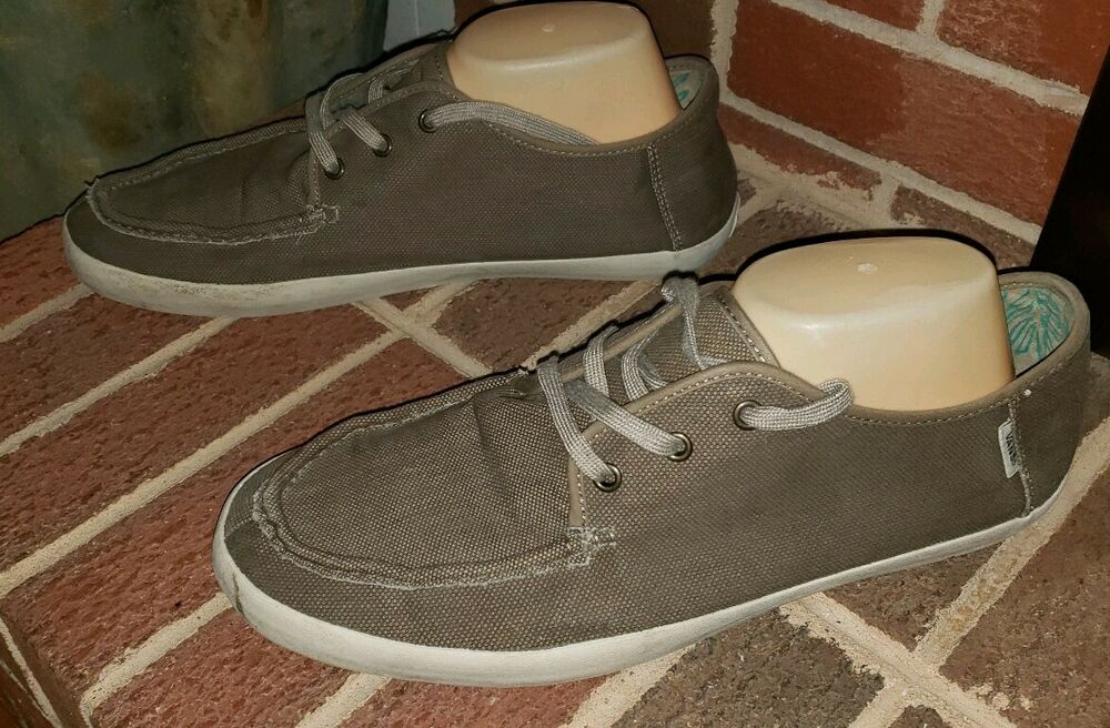 e9b7f98566 Details about VANS OFF THE WALL BROWN CANVAS SOFT CUSHION SHOES MENS SIZE 13