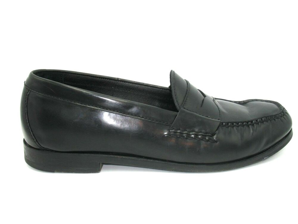 af25be528eb Details about Cole Haan Grand Os Black Leather Slip On Penny Loafer Shoes  Mens 10.5M