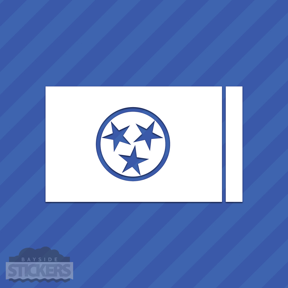 Details about tennessee state flag vinyl decal sticker