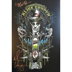 Alice Cooper Signed Poster Alice Cooper Autographed Limited Print w Photo Proof