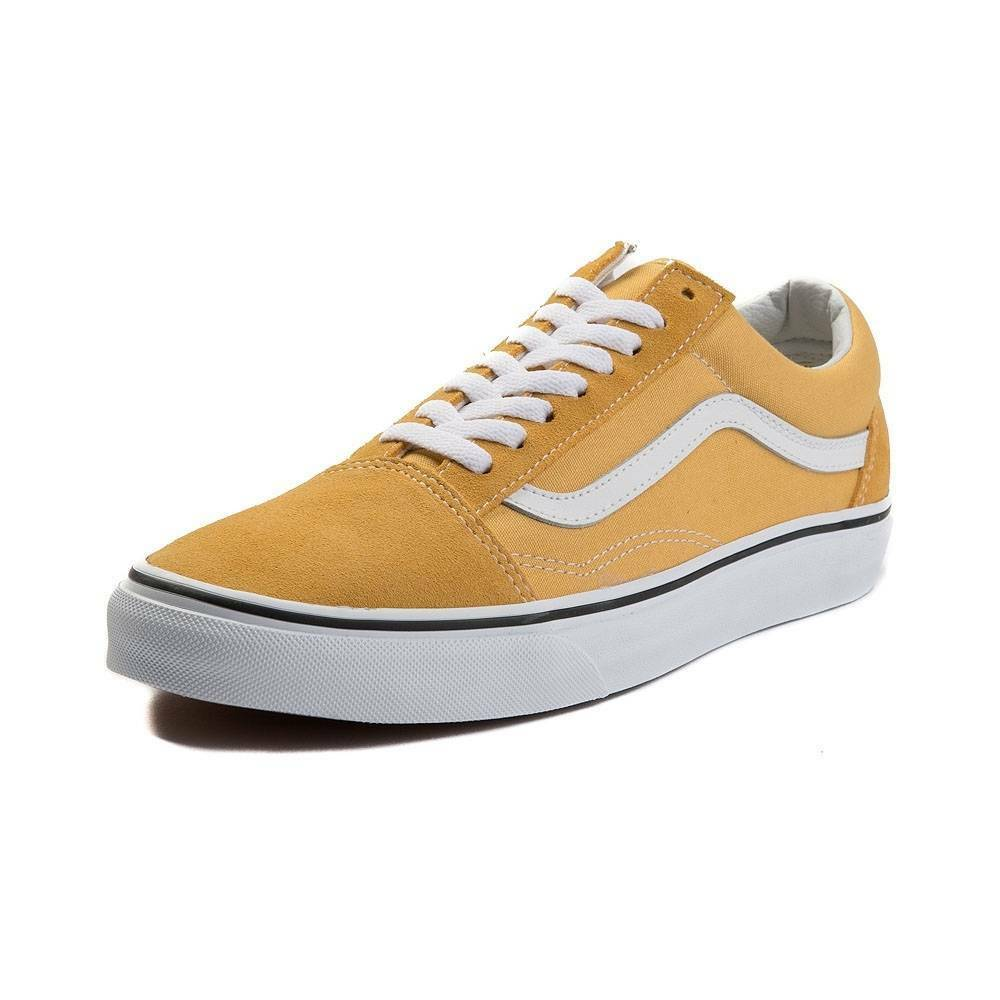 8c486fc17e6a Details about New Vans Old Skool Skate Shoe YELLOW Suede Ochre Canvas  Womens Shoes