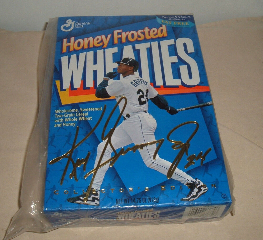GENERAL MILLS HONEY FROSTED WHEATIES CEREAL BOX KEN
