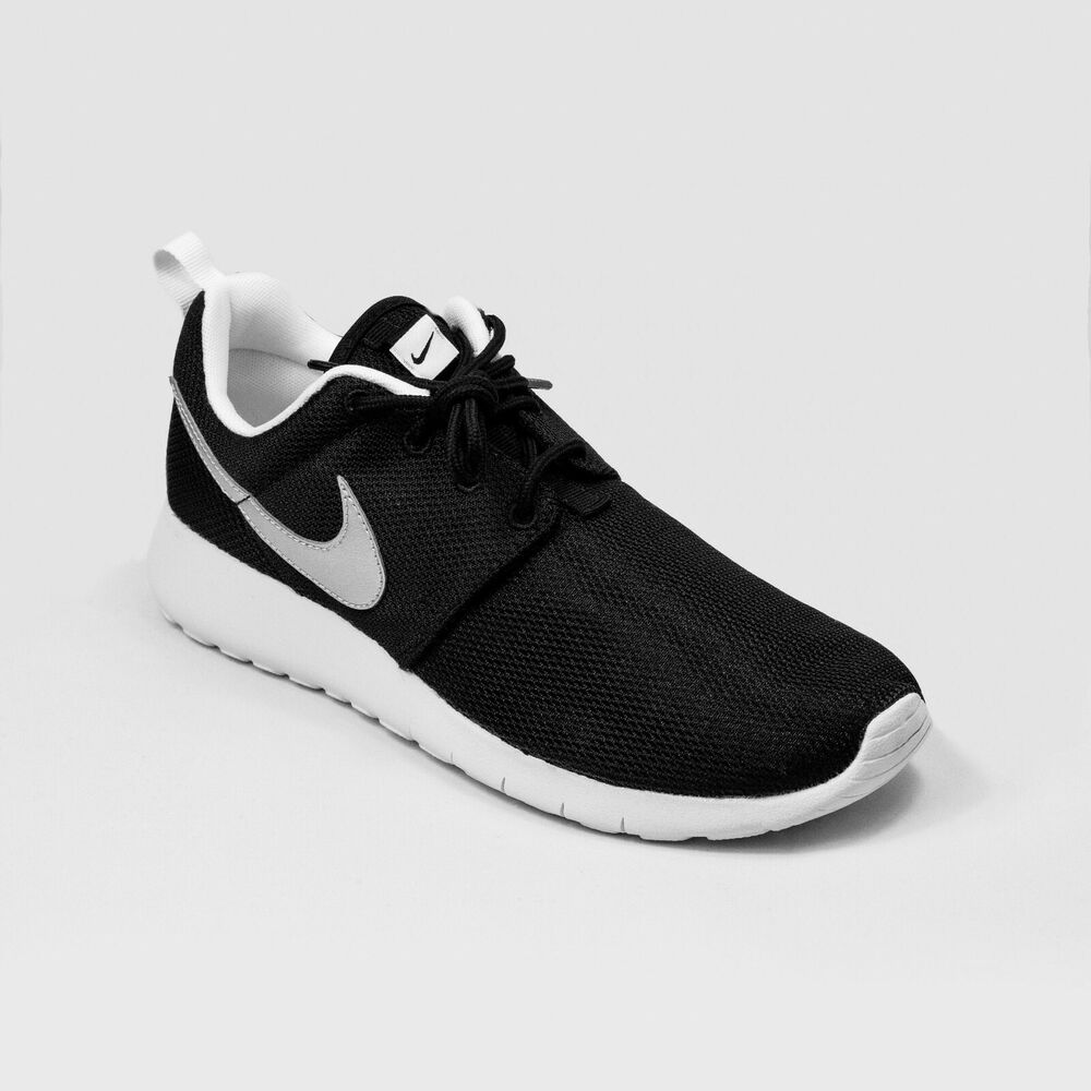 1fa6f8e9c6 Details about Nike Roshe One Kids Running Shoes Black - White - Silver  599728 021 Size 6.5 Y