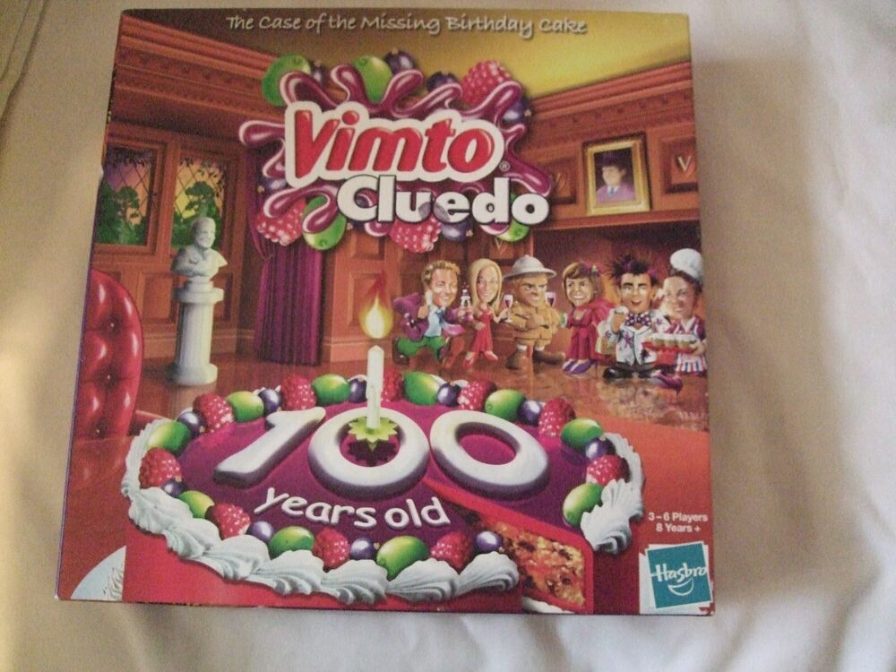 Vimto Cluedo.The Case of The Missing Birthday Cake 100 years old.No ...