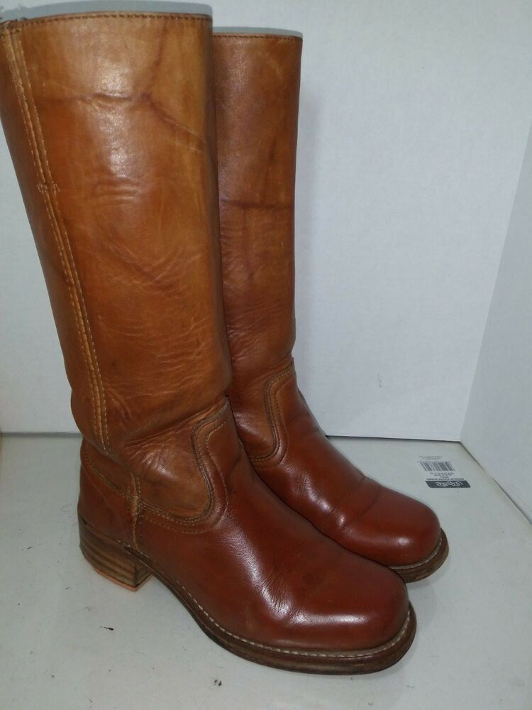 6c01eef6 Details about Frye Womens Campus 14L Leather Boots #77050 Womens Size 6.5 M