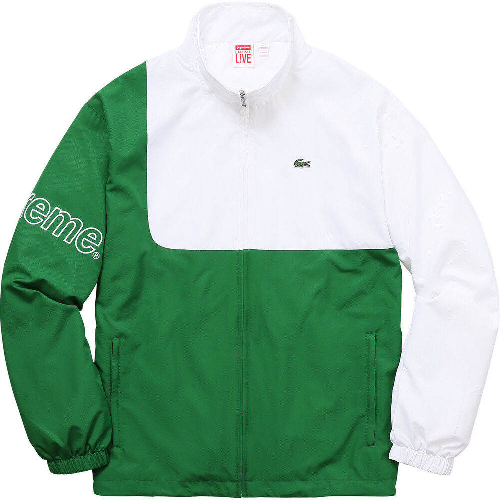 34f83176a106 Details about AUTHENTIC SUPREME SS17 Lacoste Track Jacket Green Size L 52  SUPREME