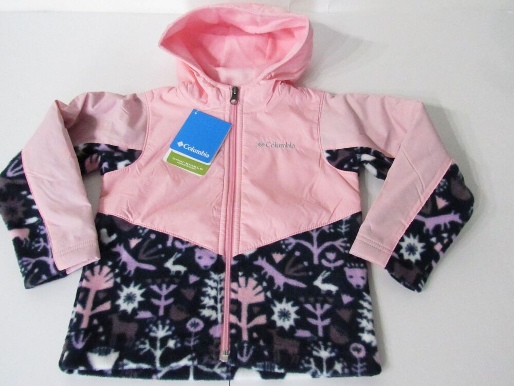 675ff4726 Details about Columbia Steens Mountain Overlay Omni-Shield Hooded Full Zip  Fleece Jacket 3T,4T