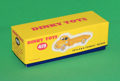 DINKY Reproduction Box 419 Leyland Cement Wagon (Comet)