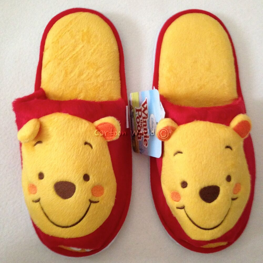bf9ad5d82e58 Details about Red Women Men Adult Disney Winnie the Pooh Plush Slippers  Shoes