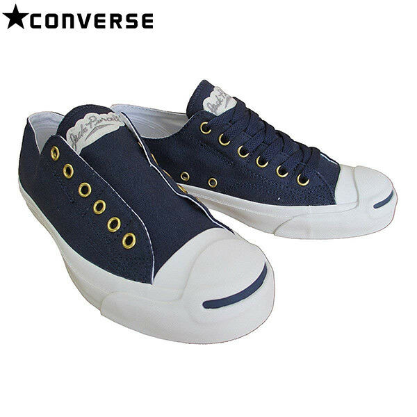 buy popular 38bcf 3c3fa Details about CONVERSE JACK PURCELL LETTEREDWAPPEN SLIP RH Navy sneaker  shoes from JAPAN
