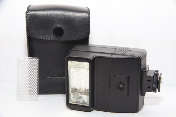 CANON FLASH Speedlite 177A Reflex FD A-1 AE-1 AV-1 AT-1 con Diffusore e Custodia