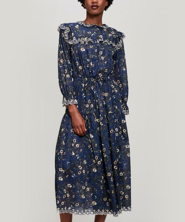 993d4562eac Details about NWT ISABEL MARANT ETOILE Eina Floral Embroidered Ruffled Cotton  Midi Dress 42 FR