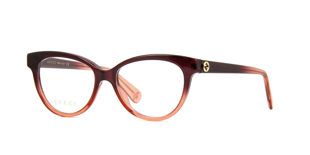 e1824c43edf Gucci GG GG0373O 003 BROWN PINK FADE 52mm Eyeglass Frames