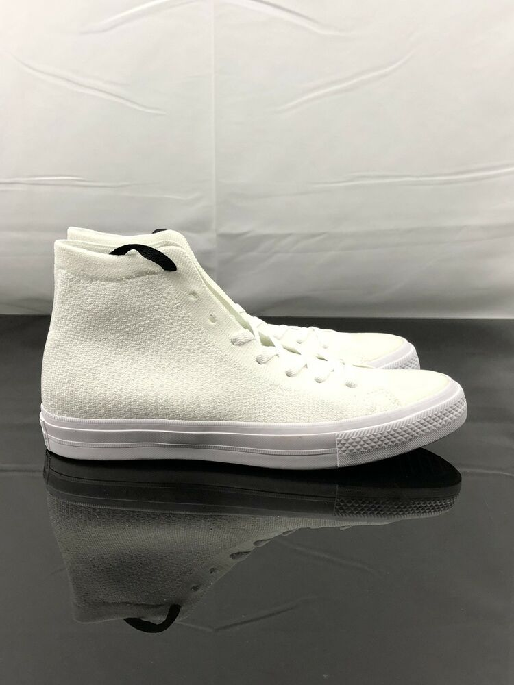 78fc55481413 Details about Converse Chuck Taylor All Star ll Nike Flyknit Mens Size 10  White 156734C