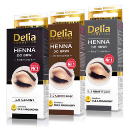 Kyпить Delia - Professional Quality - 1 HENNA COLOR TINTING CREAM KIT FOR EYEBROWS  на еВаy.соm