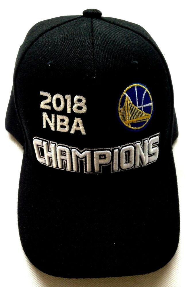 f2c59a8b77d05 Details about Golden State Warriors Cap Hat 2018 NBA Champions - Black