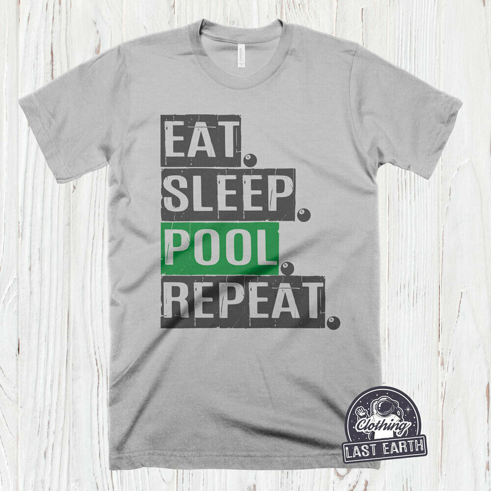 88e731570 Details about Pool Billiards T-Shirt, Pool Player Shirt, Pool Table Gifts, Funny  Billiards Tee
