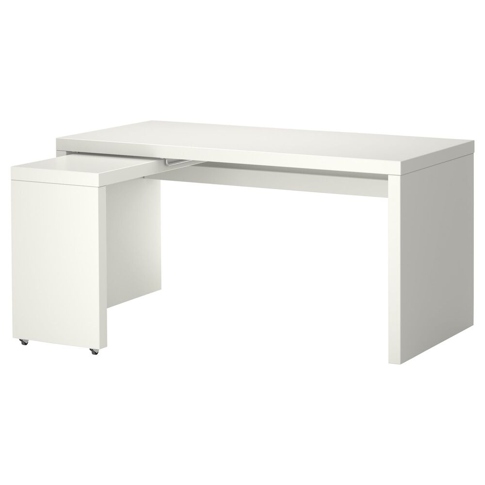 L Shaped Desk Ikea For Saving Area Resolution Details about Ikea Malm Desk Computer table with pull-out panel L shape  Modern White