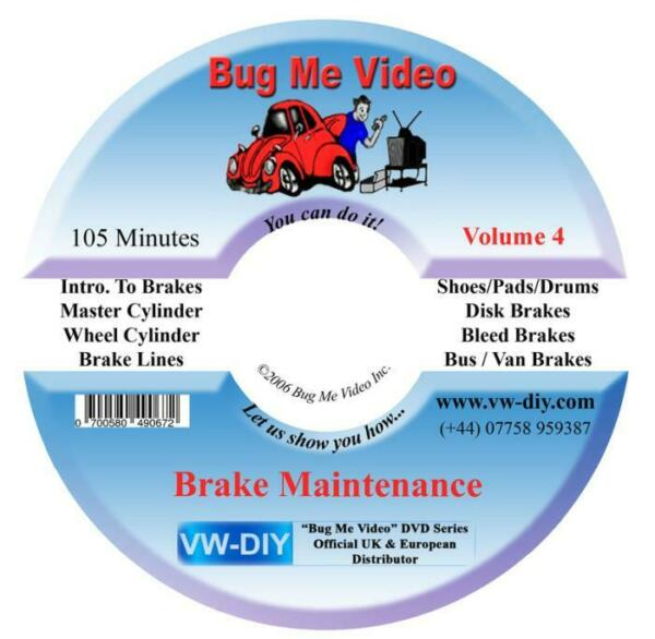 Royaume-UniVW Beetle Bus  Brakes New DVD Service Shoes Discs Pads Bug Me Video