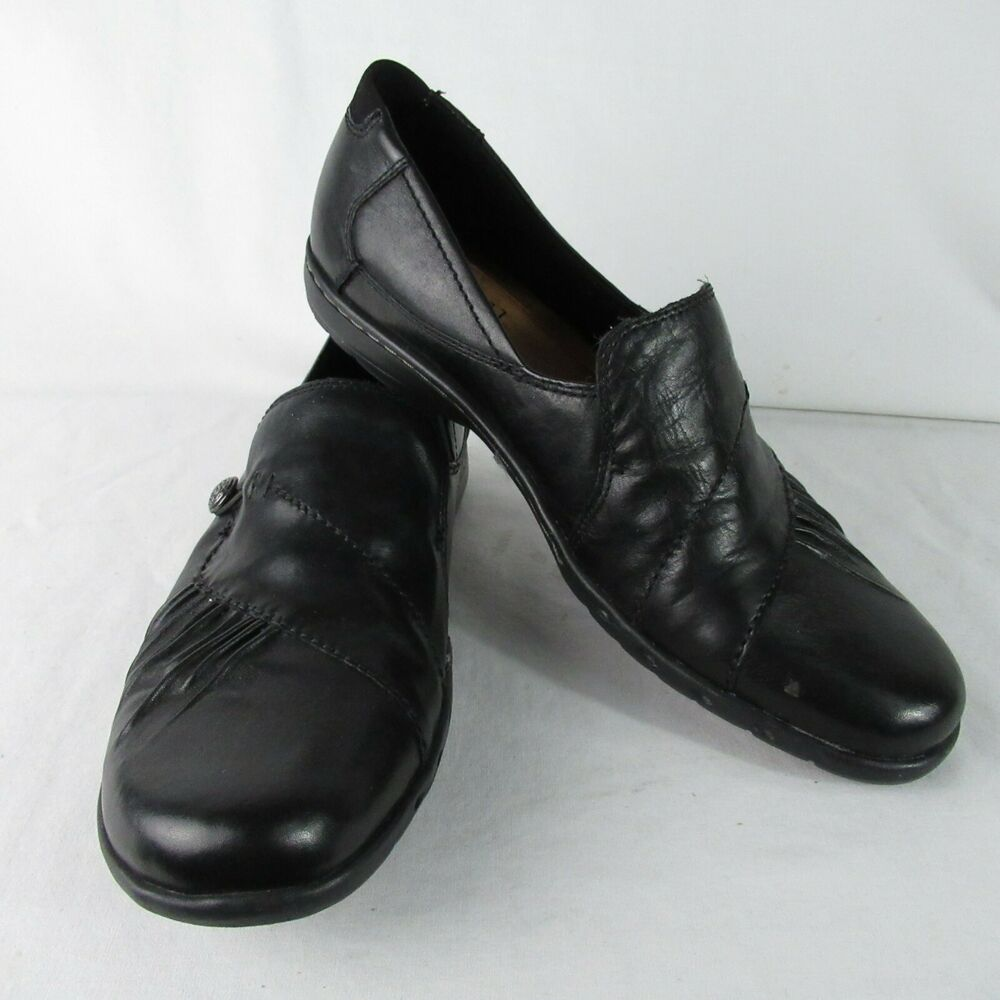 half off 606bb 30924 Details about New Balance Cobb Hill Women 11 Narrow Black Leather Loafer  Comfort Slip On