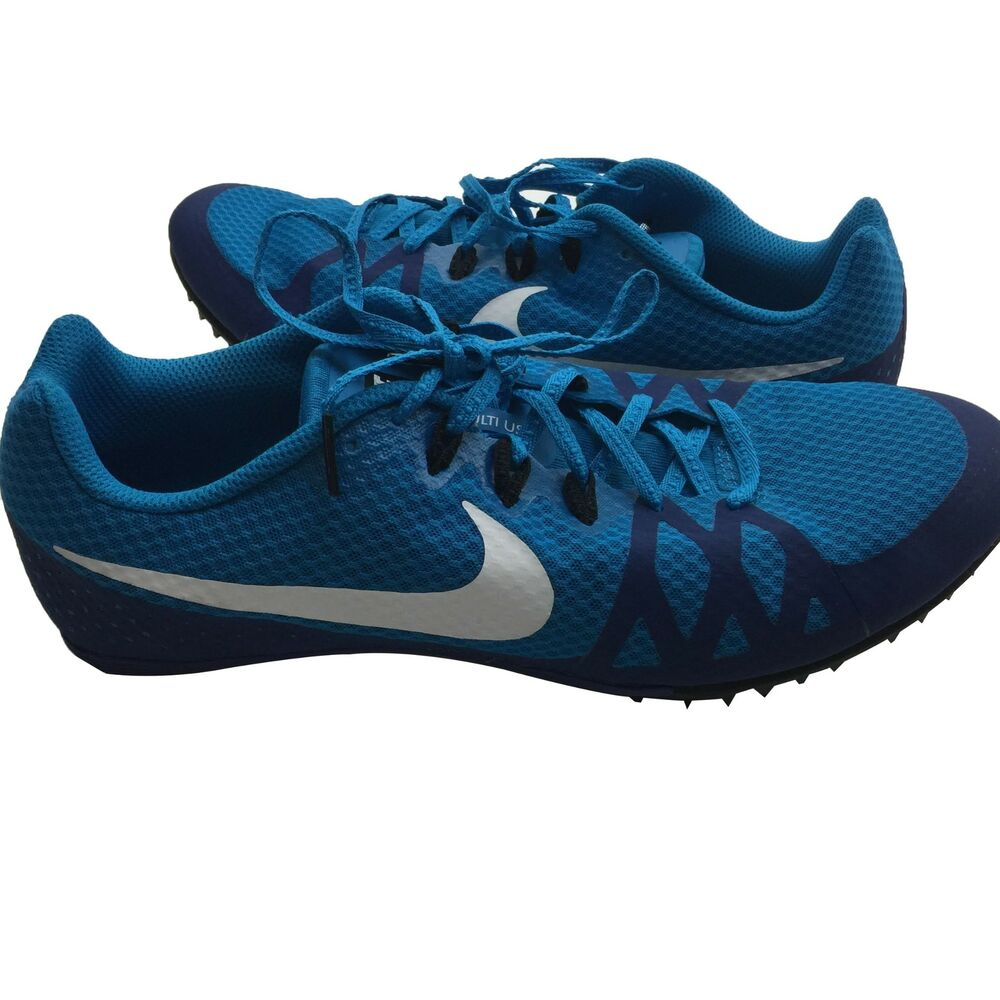 sale retailer b13c5 c044a Details about Nike Zoom Rival M 8 Blue Track Sprint Spikes Men s Size 11 W  9.5 806555-414
