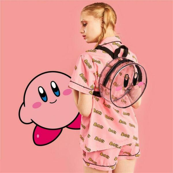 Kirby Super Star round Transparent Backpack kawaii bag girl woman style White