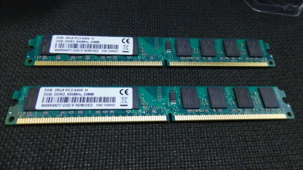 KIT RAM 4GB (2X 2GB) DDR2 PC2-6400 800MHz 800  MEMORIA PER AMD PC2-6400U 240PIN