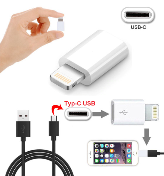 ✅USB-C Type C Female to Lightning Male Charger Adapter for iPhone X 8 7 6 5S SE✅
