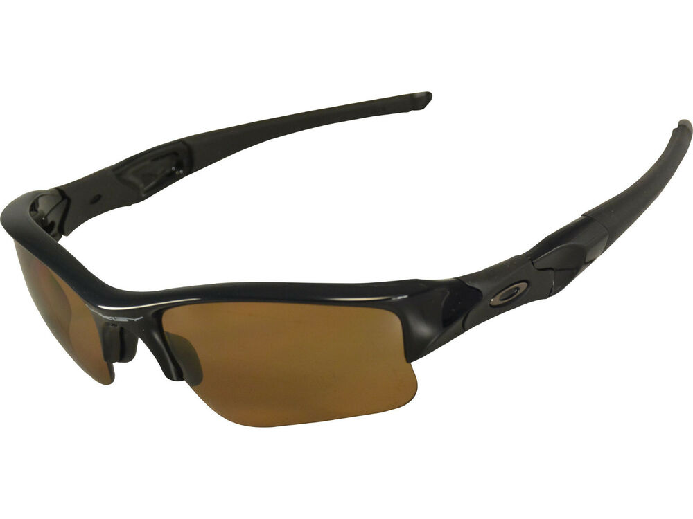 74adfac5ecf04 Details about NEW Oakley Flak Jacket XLJ Polished Black Frame   Bronze Polarized  Lens 26-243
