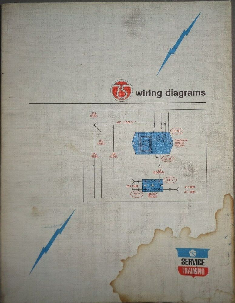 1975 Chrysler Plymouth Dodge Wiring Diagrams Service ...