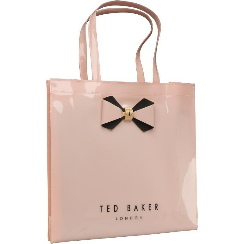 7997f371a9 Details about Ted Baker Womens Bowicon Plain Bow Large Icon Bag Pink  Designer