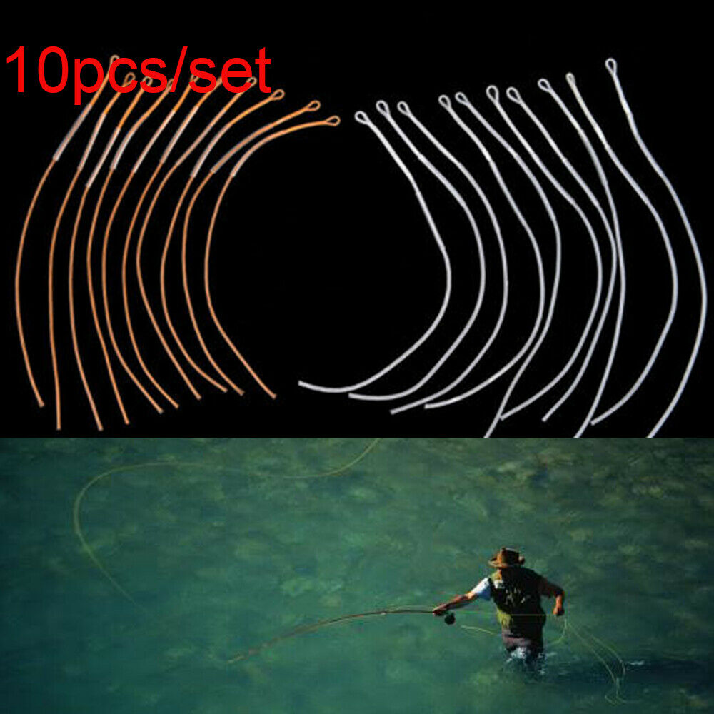 10pcs//lot Fly Fishing Line Braided Loop Connector 20//30//50LB Leader ConnectFBDU