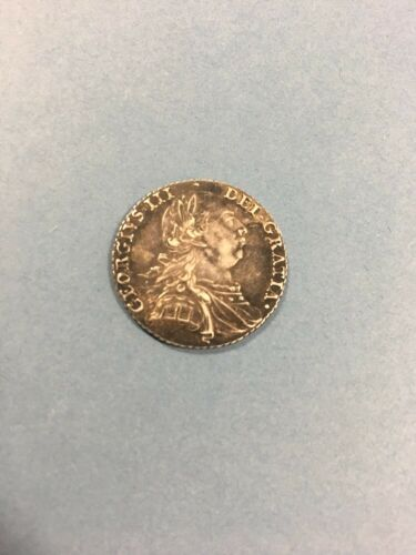 George III - 1787 Shilling - With Semée Of Hearts - Some Lustre And Nice Toning