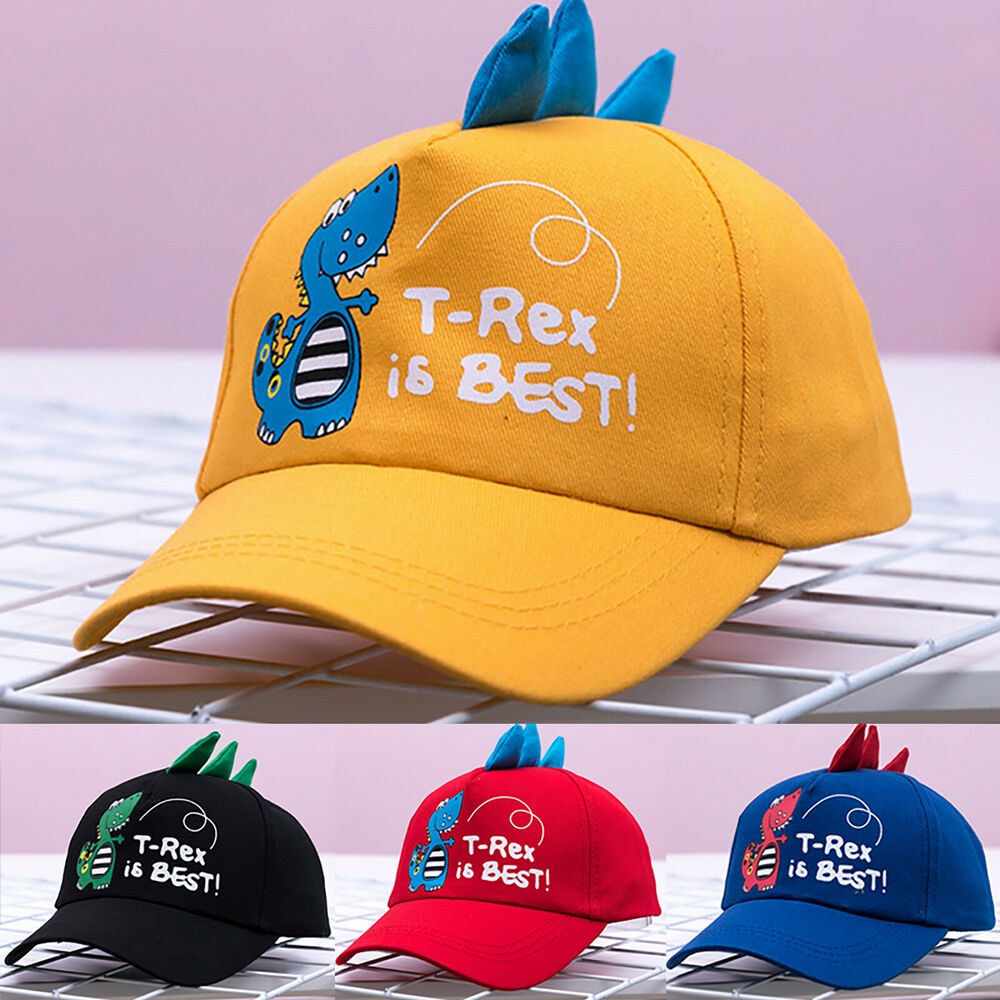 Details about summer child dinosaur baseball cap adjustable boy girl snapback sun hat outdoor