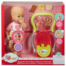 FISHER PRICE LITTLE MOMMY HAPPY SNACKTIME BABY DOLL & ACCESSORIES FCN10  *NEW*