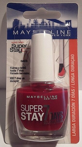 Vernis à Ongles Super Stay 501 Rouge Laqué Gemey Maybelline New York