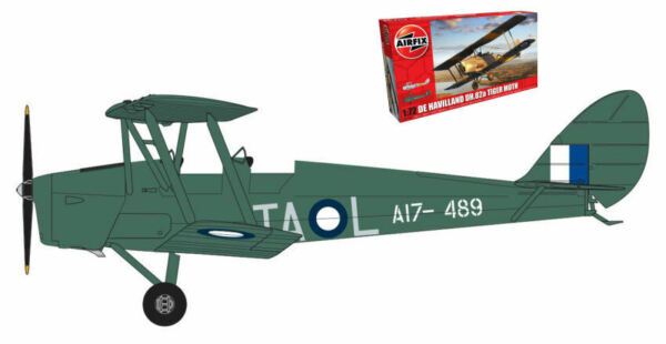 Dehavilland Dh82a Tiger Moth Plastic Kit 1:72 Model AIRFIX