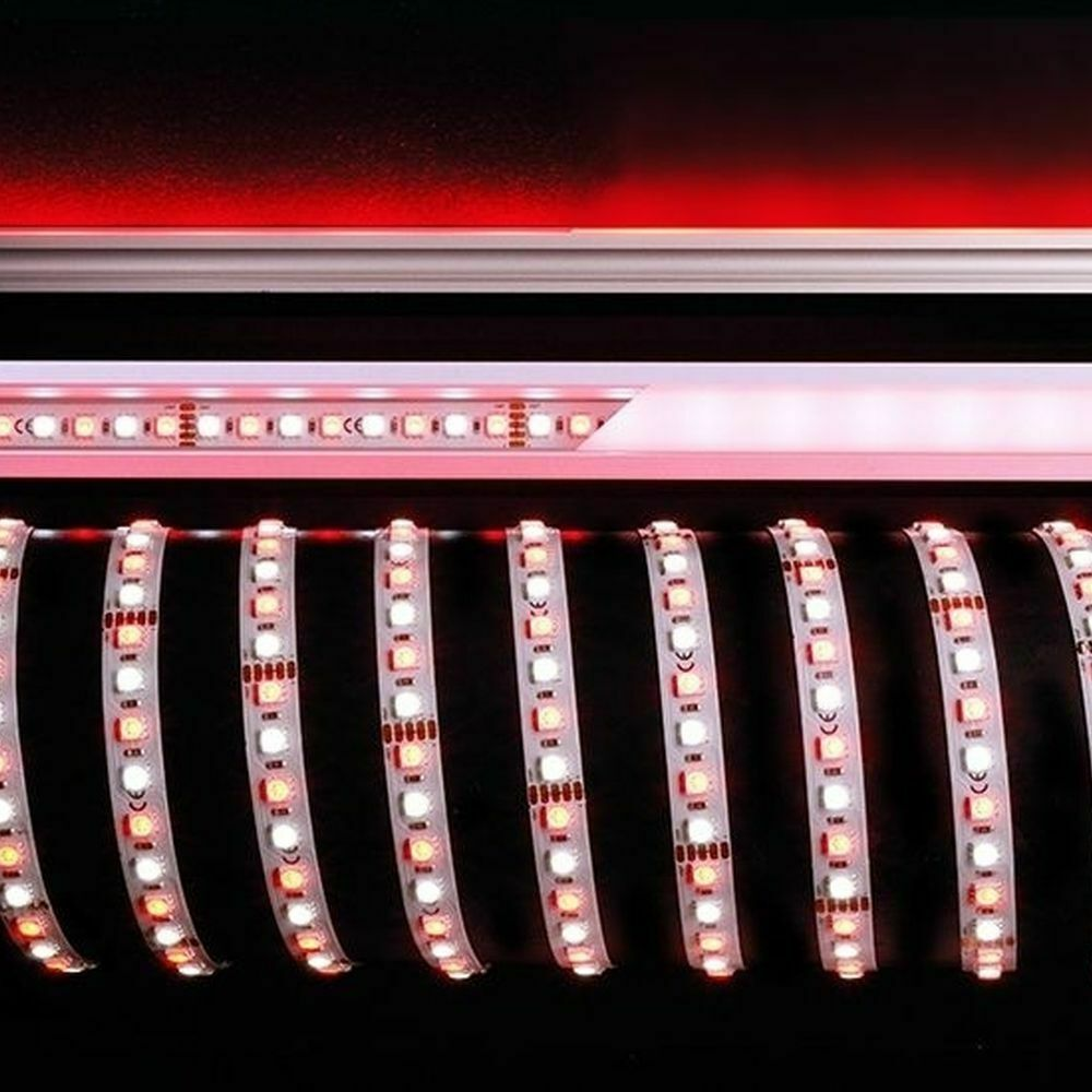 Led Stripe 5050 96 24v Rgb 6200k 5m In Weiss 3700lm