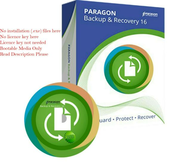 Paragon Hard Disk Manager 16 new Bootable CD SSD Migrate Copy Backup OS Restore