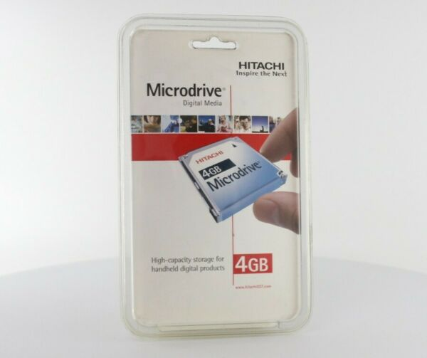 New Hitachi Pexagon 4 GB Digital Microdrive High Speed Memory Card (MD4GBBP)