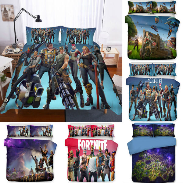 3D FORTNITE BATTLE ROYALE Set Jeux de literie Couvre-lit Unique  200x200cm