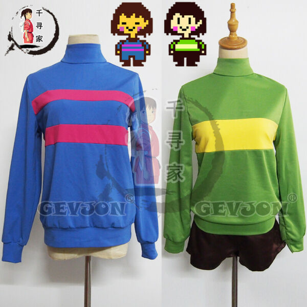 Undertale Frisk Chara Sweatshirts Hoodies Coat Pants cosplay Daily Customizd