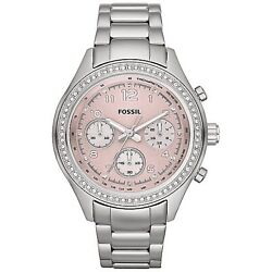 Kyпить FOSSIL Watch CH-2798 Crystal Surround Bezel, Stainless Steele, Chrono, Pink Face на еВаy.соm