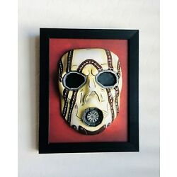 Kyпить NEW Borderlands Psycho Bandit Hand Painted Wood Framed Resin Mask 7